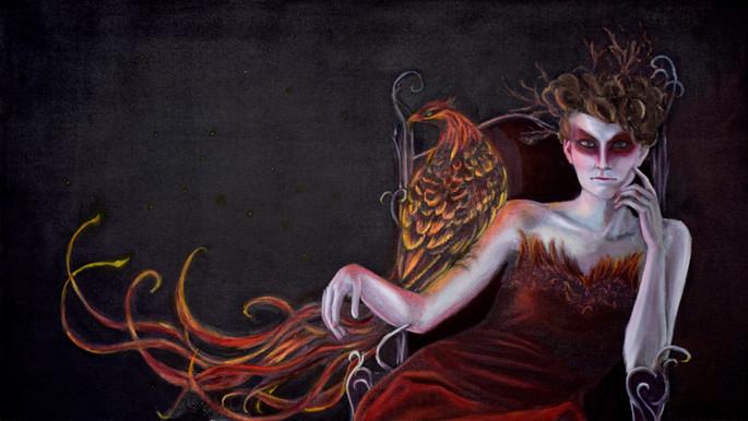 Phoenix Queen (concept). 2014 - . Oil on Canvas, 48x27in.