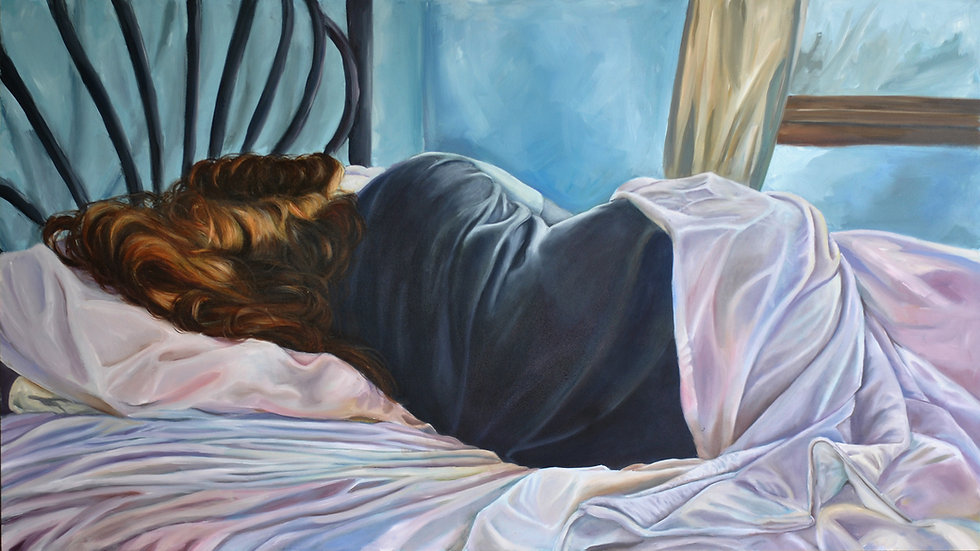 True Self, Privy Beyond the Door. 2016-2018. Oil on panel, 48x27in_