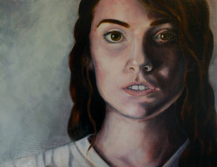 Illustrative Character Study Oil Painting of Kyna (2nd Iteration)