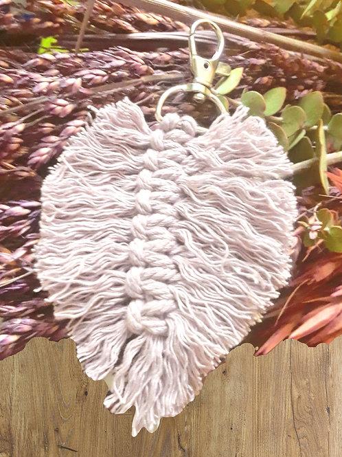 Macramé Leaf Keyring