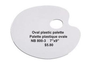 Oval Plastic Palette