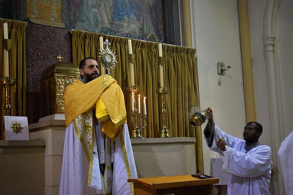 Marian Franciscans at Benediction
