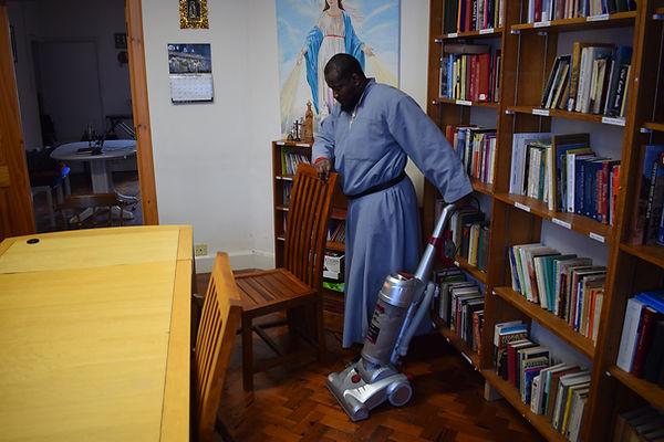 Franciscan friar working