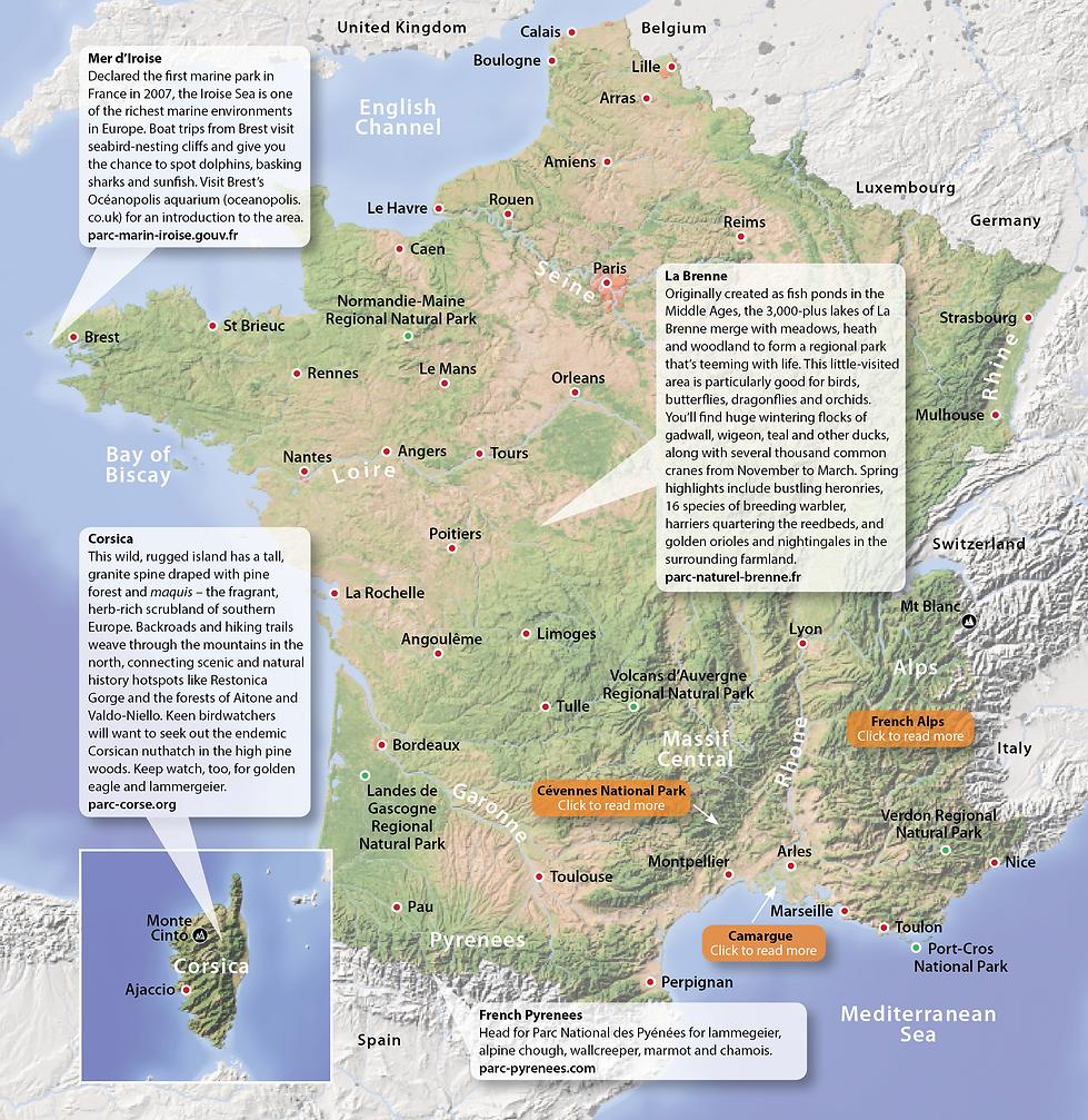 France Wildlife Destinations