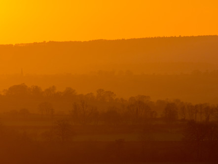 Sunset over Whichford