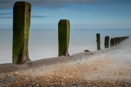 Groynes at Climping Beach, West Sussex