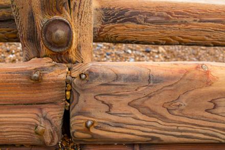 Beach groyne detail, West Sussex