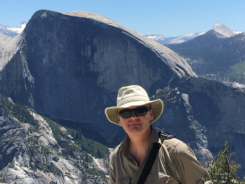 Writer and photographer William Gray in Yosemite National Park, USA