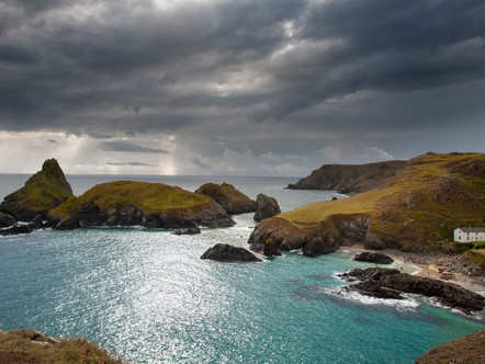 Storm approaching Kynance Cove