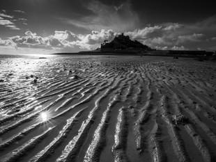 Sandy ripples at St Michael's Mount