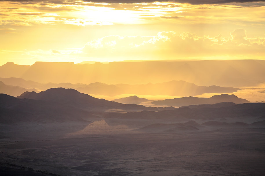 Aerial of Nambi-Naukluft mountains, Namibia, by William Gray