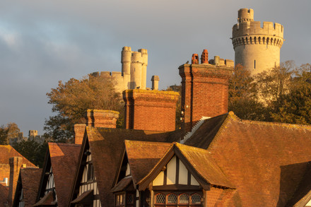 Arundel rooftops and castle