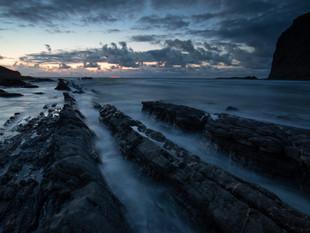 Rock ledges at Crackington Haven