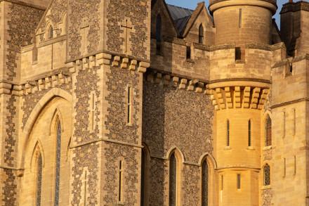 Close-up of Arundel Castle