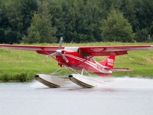 Floatplane taking off