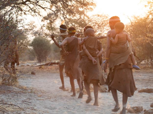 San Bushmen at Mena o Kwena