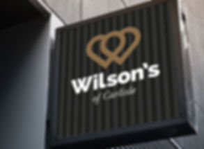 Wilsons of Carlisle brand and signage