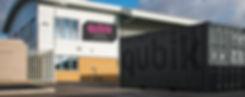 Qubik Space building signage