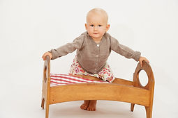 Babyjacke aus reine Babyalpaka