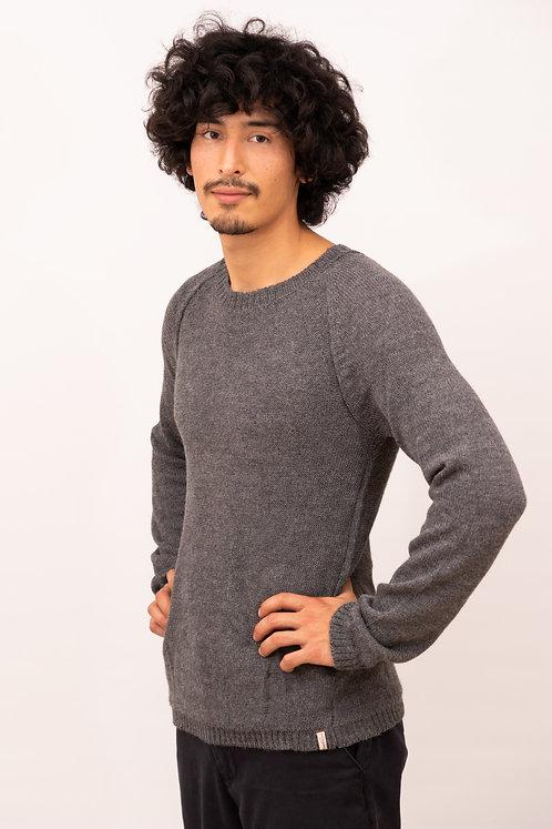 Alpaka Pullover Herren | Strickmode aus Alpaka | Modisch dünner Herrenpullover, einfarbig