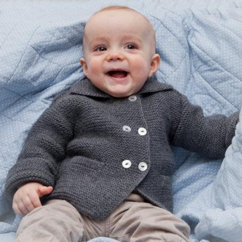 Babykleidung || Babyjacke aus Alpakawolle || Babywelt Berlin || Strickmode || Handarbeit