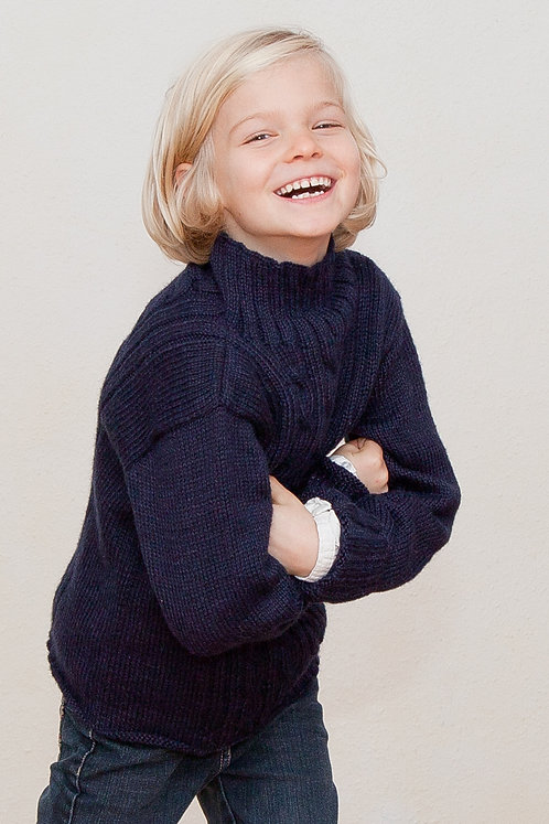 Strickmode für Kinder | Strickpulli PIERO | Alpaktia Handarbeit