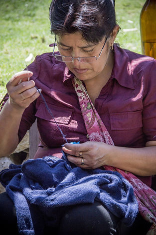 Strickfrauen Treffen in Caraz Peru 05.jp