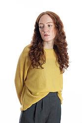 gelber Strickpullover Moni aus feinster