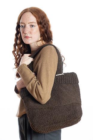 Unikat Tasche braun aus Alpakawolle