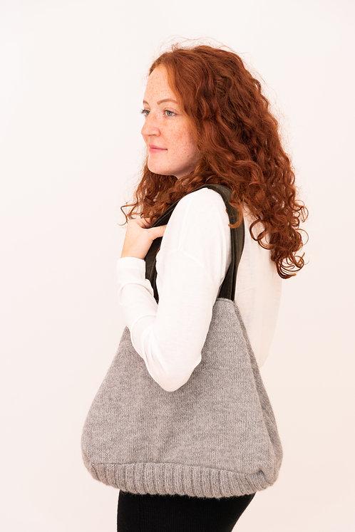 Unikat Stricktasche mit Alpakawolle als Obermaterial