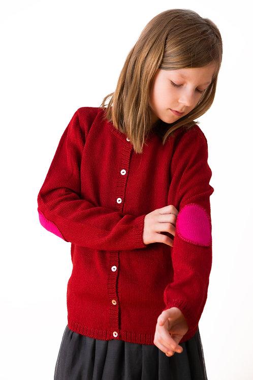 Strickjacke für Mädchen aus Alpaka Wolle. Alpakita macht Strickmode