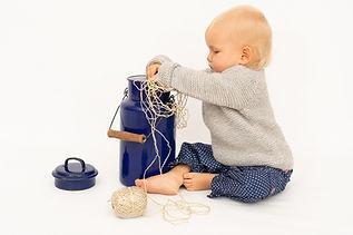 Babypulloder aus Alpaka und Baumwolle