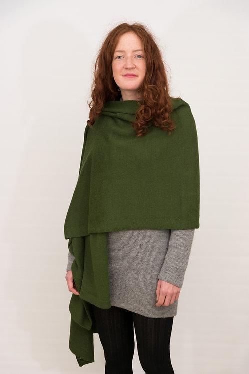 Eleganter einfarbiger Alpakaschal,  hellgrau, dunkelgrau, grün, 200 cm lang und 65 cm breit oder grün, ca. 70 cm x 140