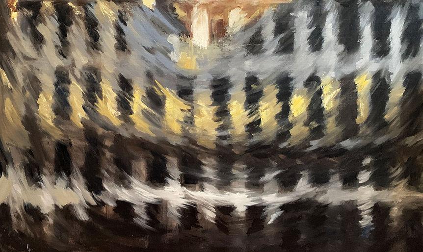 Mestan Tekin Grand Place Ombre et Mouvements - Collection privée