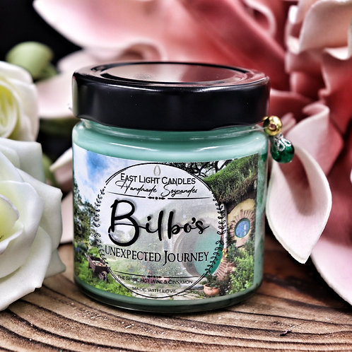 Bilbos unexpected Journey   Candle   Buchkerze   Scented Candle   Bookish Candle
