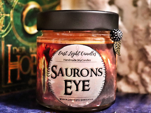 Saurons Eye   Lord of the Ring / The Hobbit inspired  Organic Soy Wax Candle