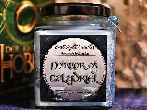 Mirror of Galadriel | Organic Soy Wax Candle | Glittercandle | Bookish Candle