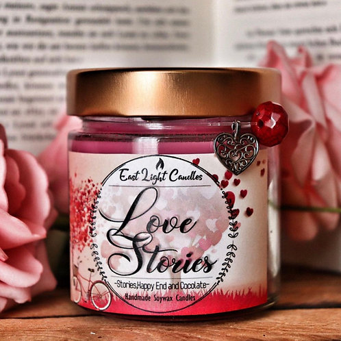 Love Stories  Bookish Candle   Duftkerze  Buchkerze   Scented Candle
