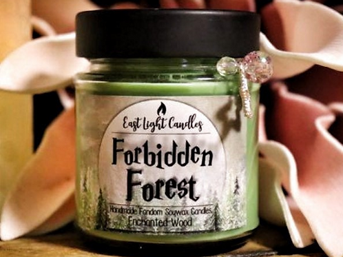 Forbidden Forest  Duftkerze  Organic Soy Wax Candle   Bookish Candle