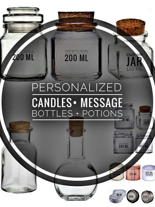 PERSONALIZED | Candles | Magic Potions | Message Bottles | Bookish Merch |