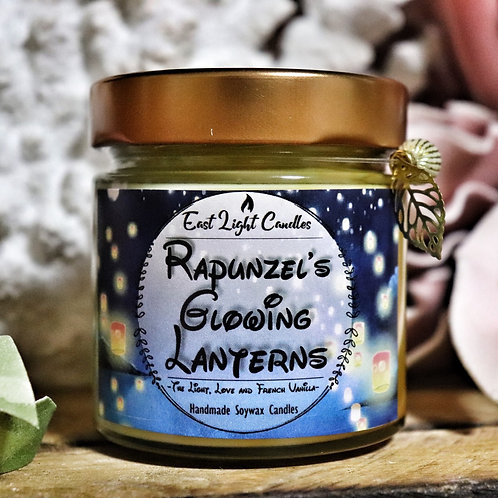 Rapunzels glowing laterns   Candle   Buchkerze   Scented Candle