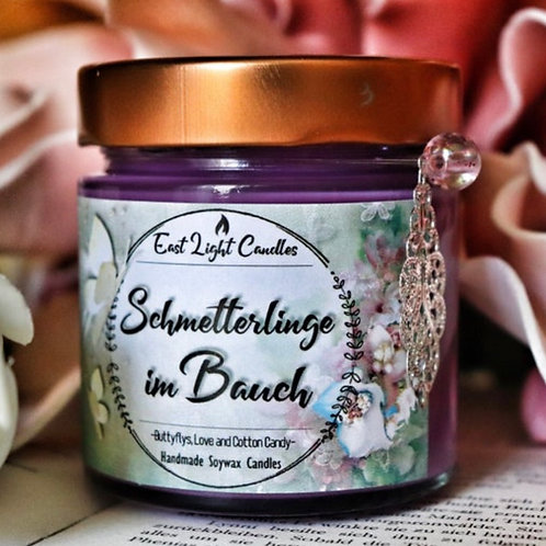 Schmetterlinge im Bauch   Candle   Buchkerze   Scented Candle