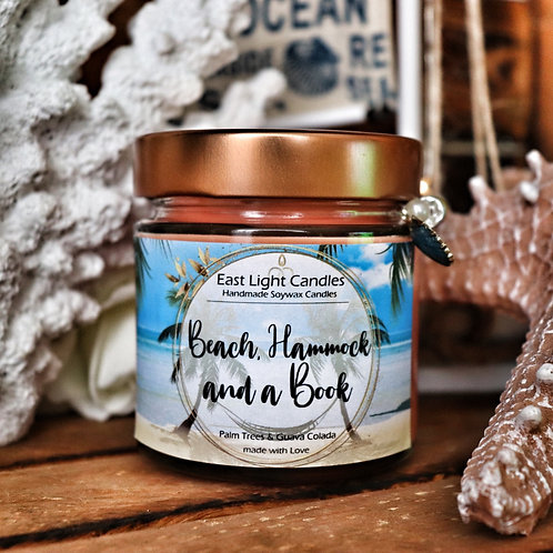 Beach, Hammock...| Candle | Buchkerze | Scented Candle | Soywax Candle