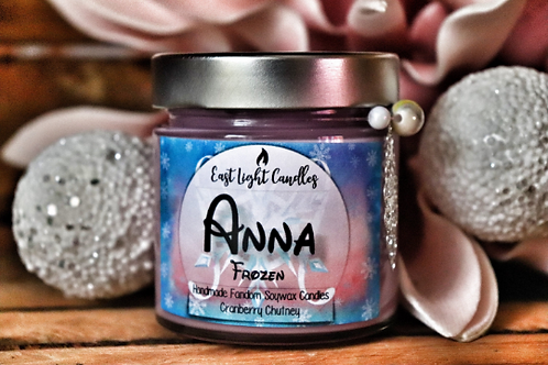 ANNA (Frozen)   Princess Collection   Organic Soy Wax Candle   Bookish Candle