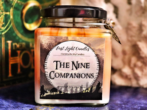 The Nine Companions | Lord of the Ring / The Hobbit inspired |Organic Soy Wax