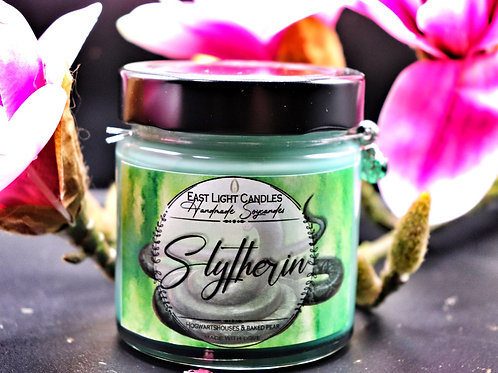 SLYTHERIN  Harry Potter Hogwarts Houses   Glittercandle   Organic Soy Wax Candle
