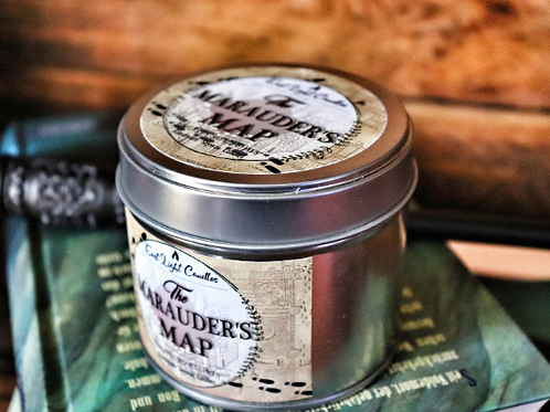 The Marauders Map | Duftkerze| Organic Soy Wax Candle | Bookish Candle