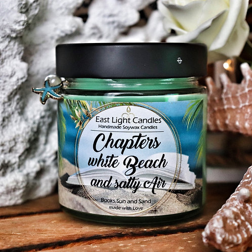 Chapters, white Beach... | Candle | Buchkerze | Scented Candle | Soywax Candle