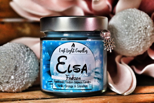 ELSA (Frozen)   Princess Collection   Organic Soy Wax Candle   Bookish Candle
