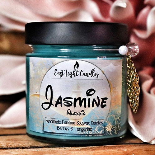 Jasmine  Disney inspired Organic Soy Wax Candle   Bookish Candle   Scented Candl